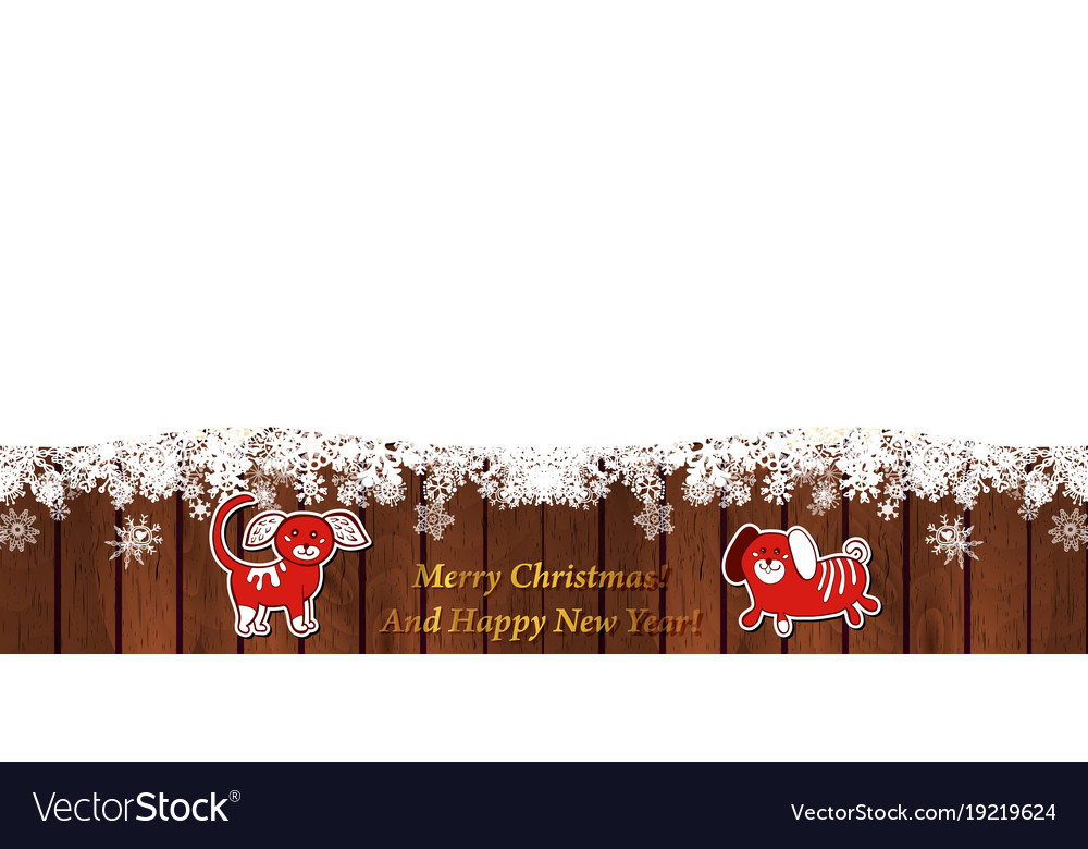 Winter template with snowflake on wood background