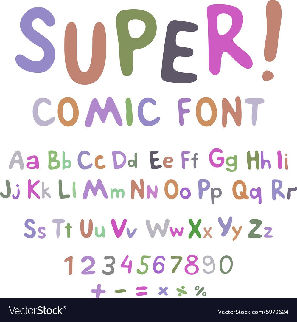 Wow Creative high detail font for your design The vector image