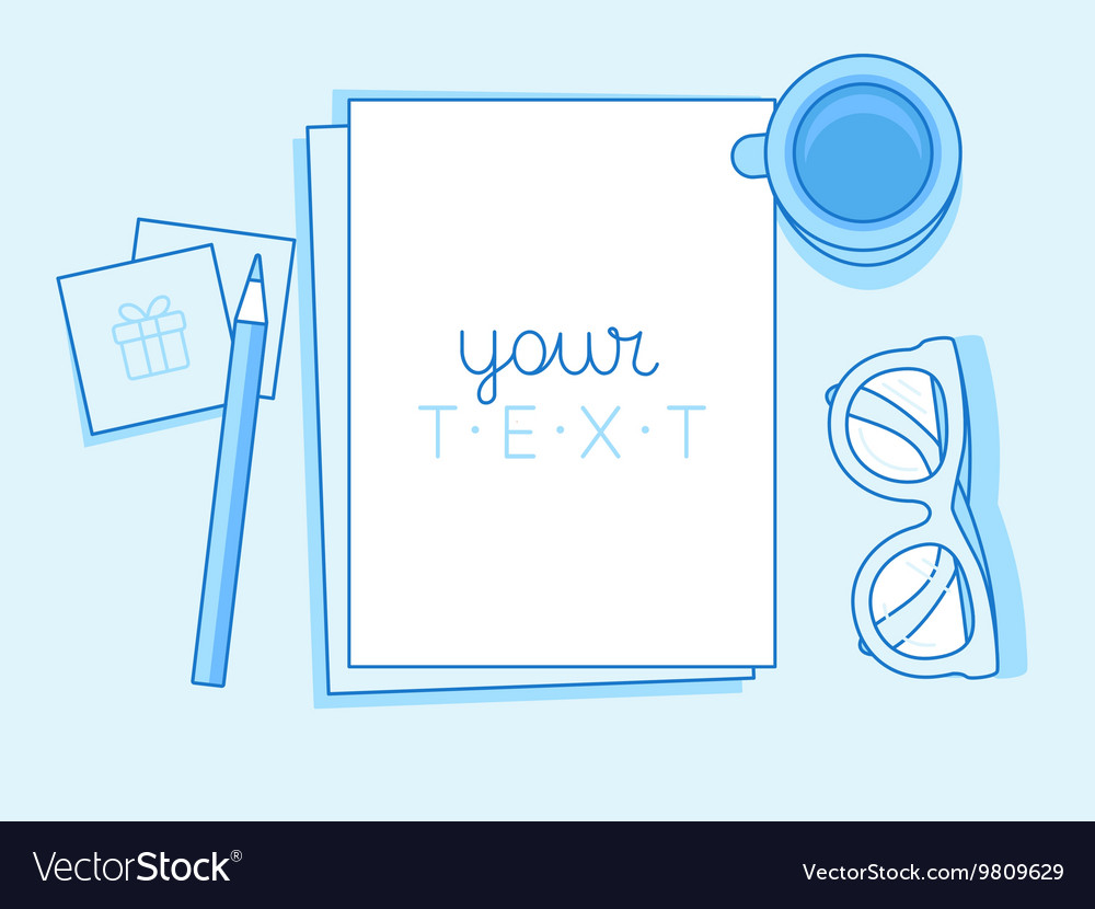 In trendy linear style and blue colors vector image