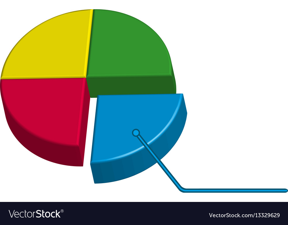 infographic pie chart in 3d royalty free vector image rh vectorstock com free vector pie chart maker free vector pie chart maker