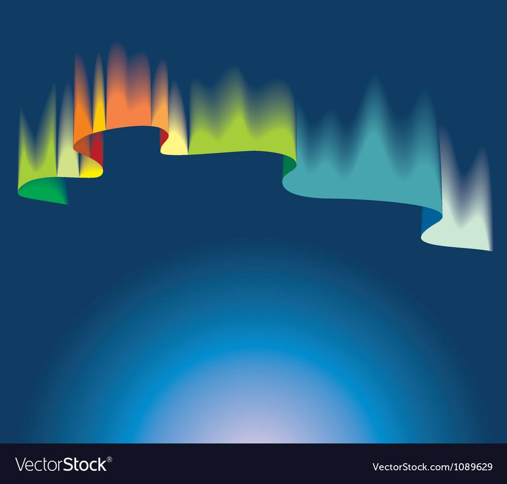 northern lights royalty free vector image vectorstock