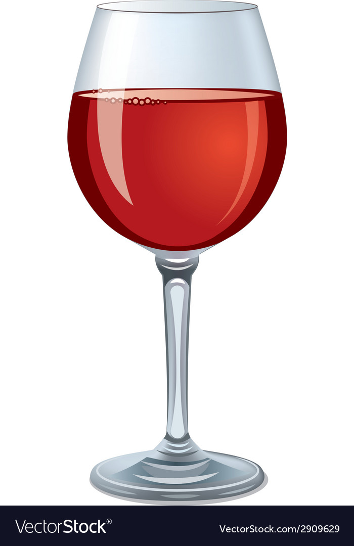 Red Wine Glass Royalty Free Vector Image Vectorstock