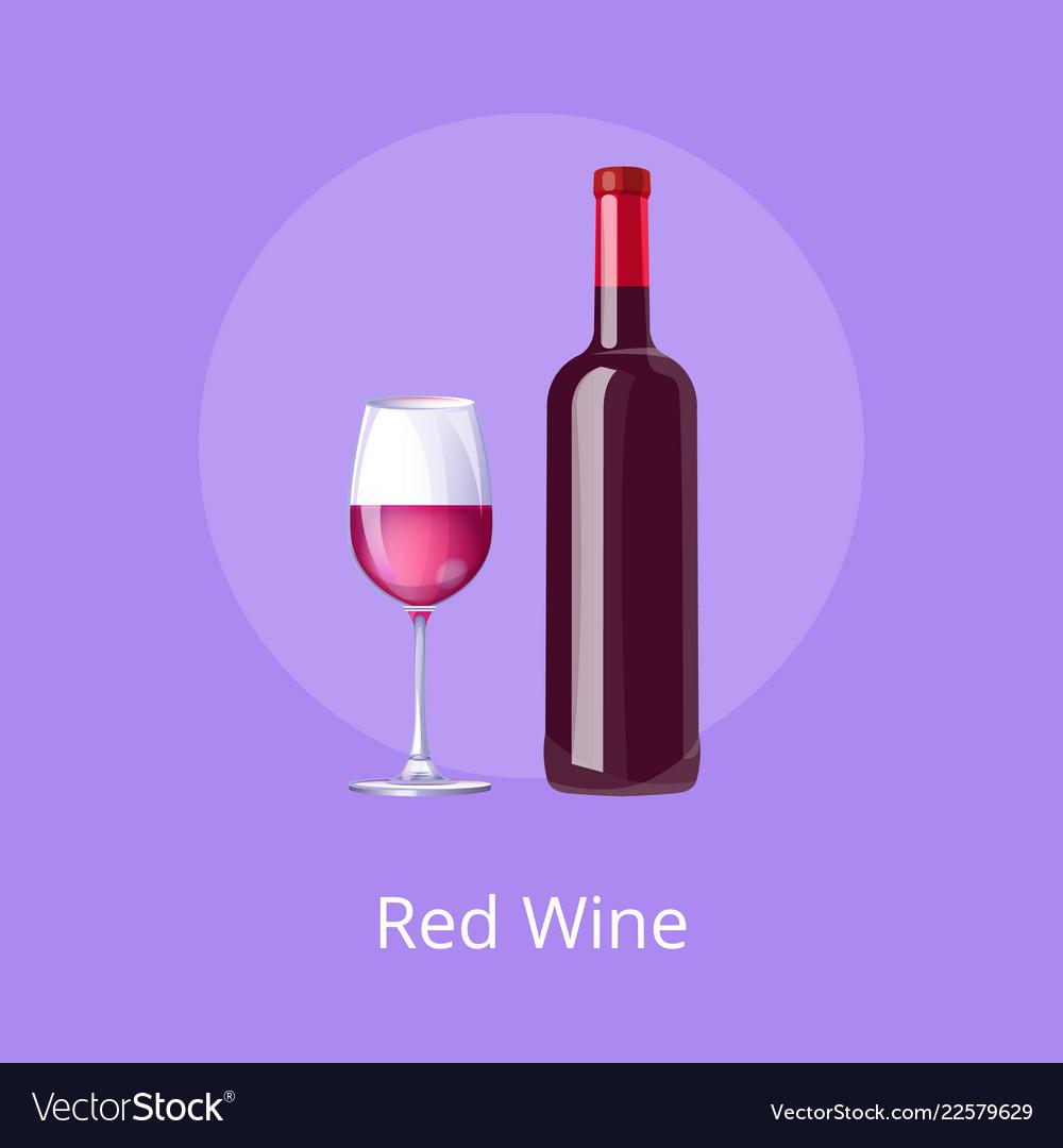 Red wine poster bottle burgundy merlot and glass