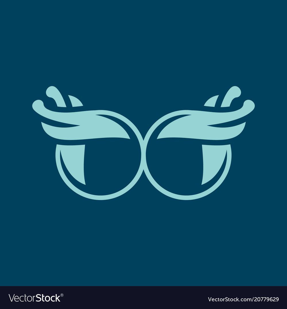 Vintage glasses sign