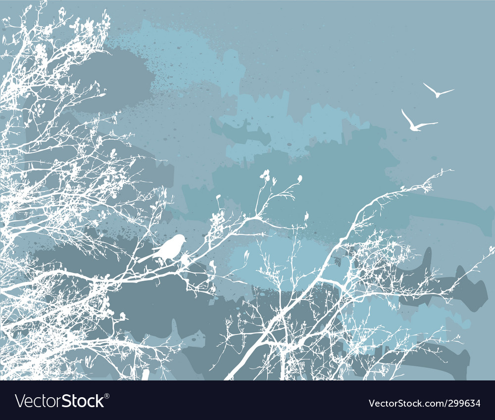 Bird in a tree vector image