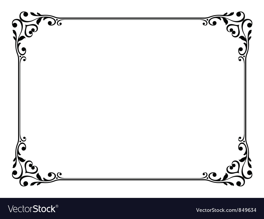calligraphy frame royalty free vector image vectorstock rh vectorstock com frame vector png frame vector free download ai