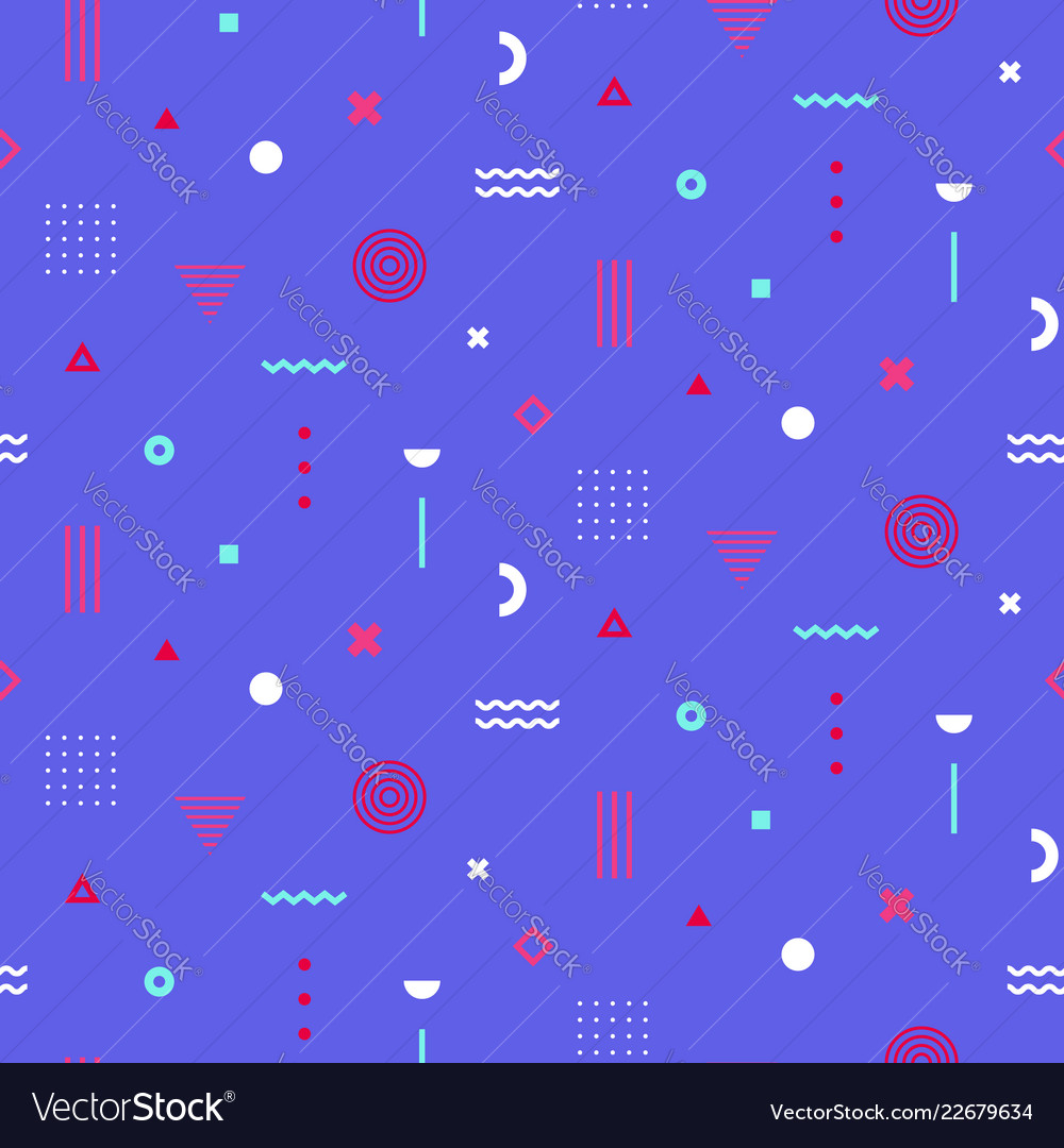 Colorful memphis seamless pattern repetitive