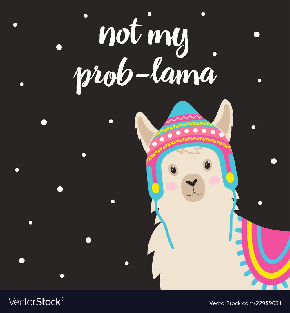 Cute winter llama