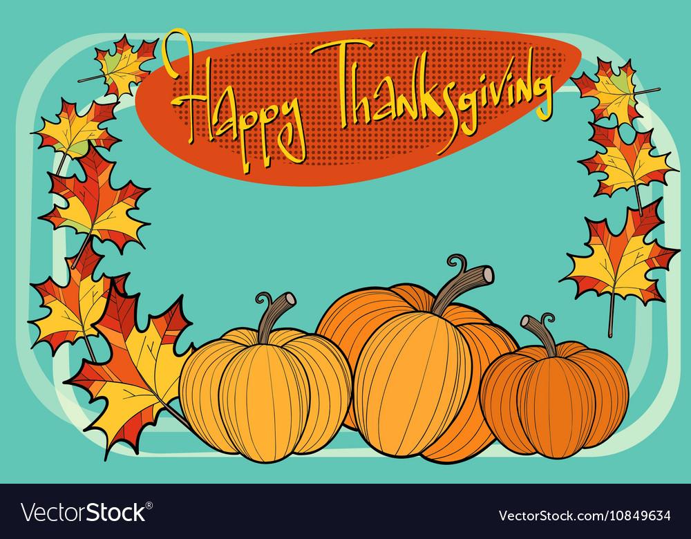 Happy thanksgiving autumn pumpkin greeting