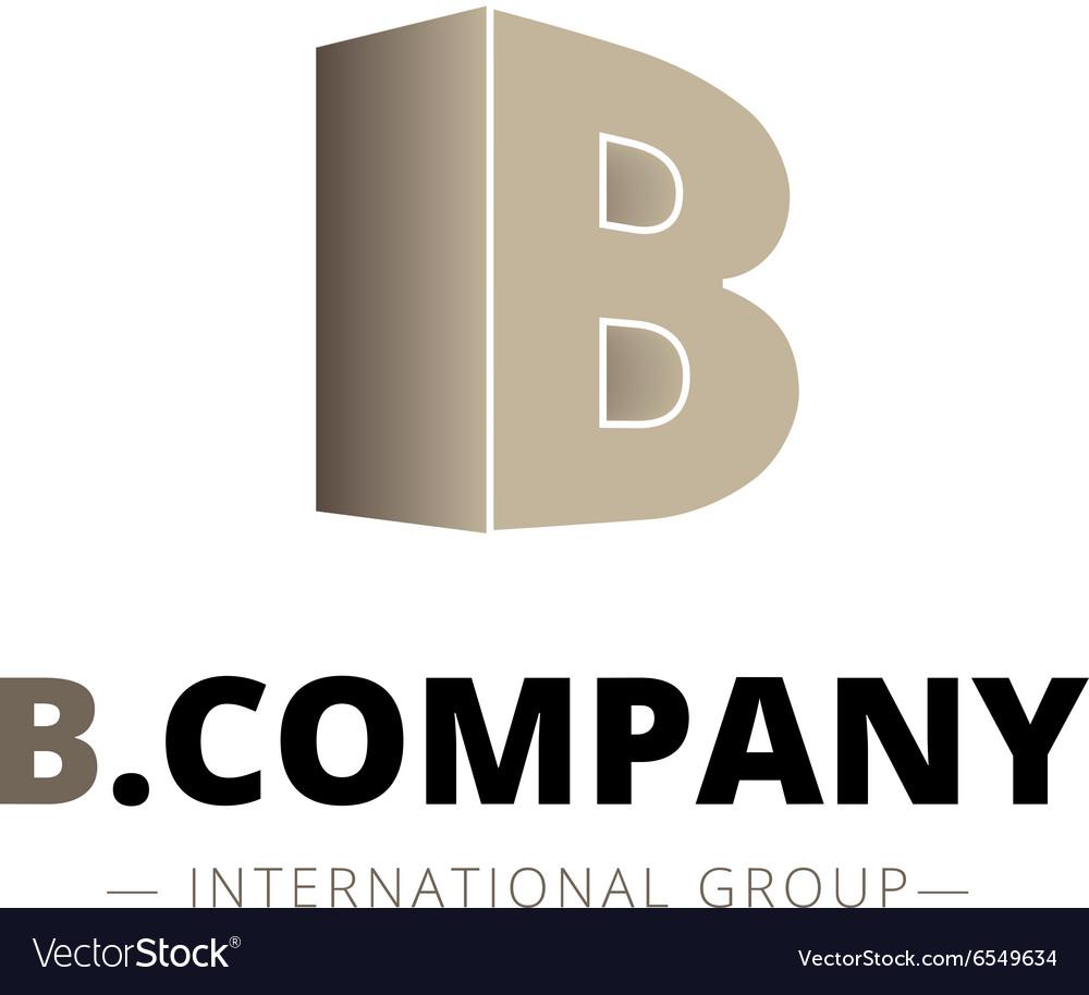 Isometric gradient B letter logo Company
