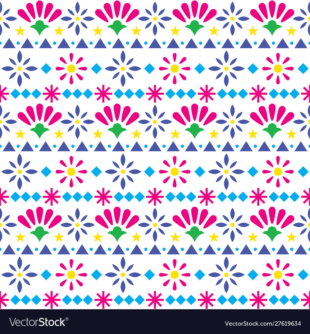 Mexican seamless textile pattern