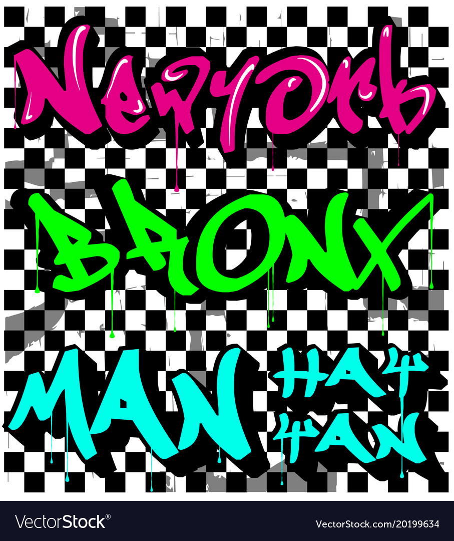 Modern typography grafitti