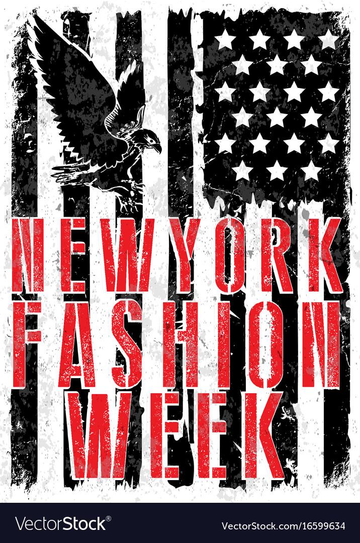 New york fashion typography t-shirt graphics