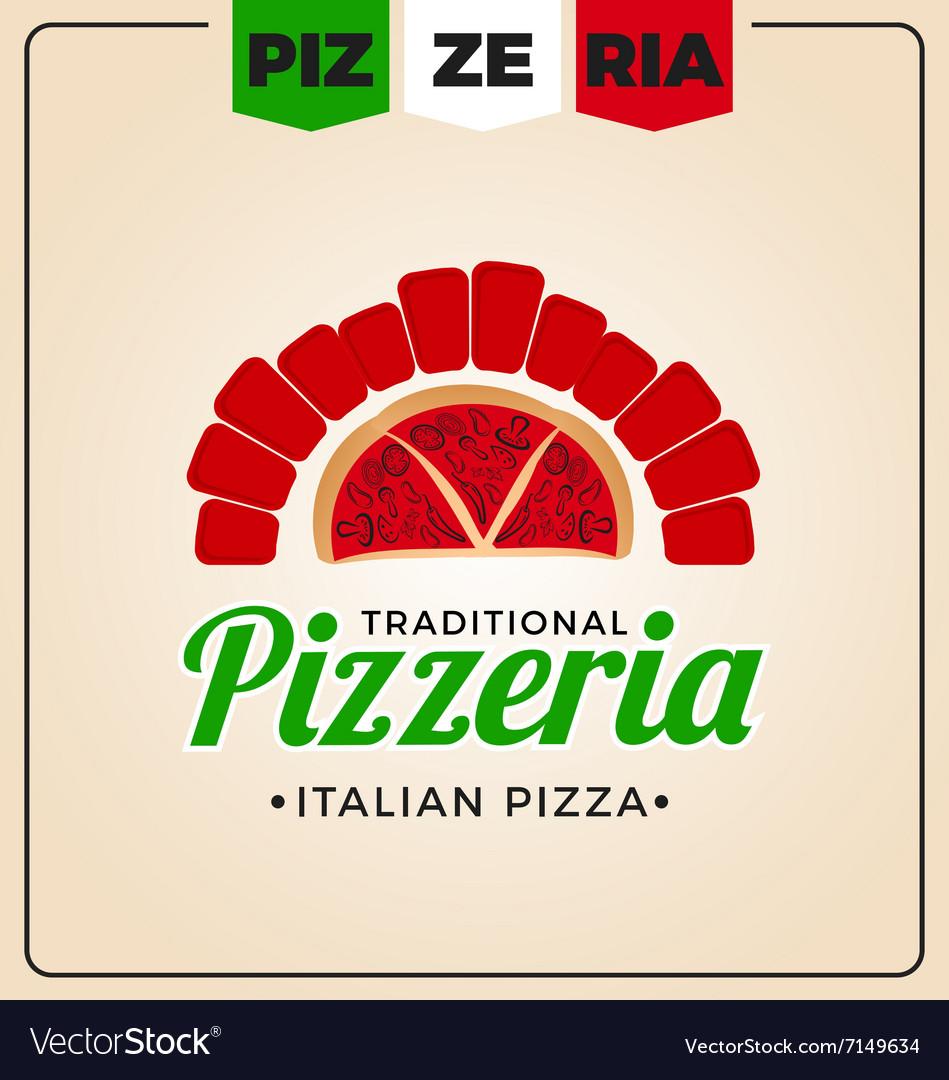 Pizzeria logo template design