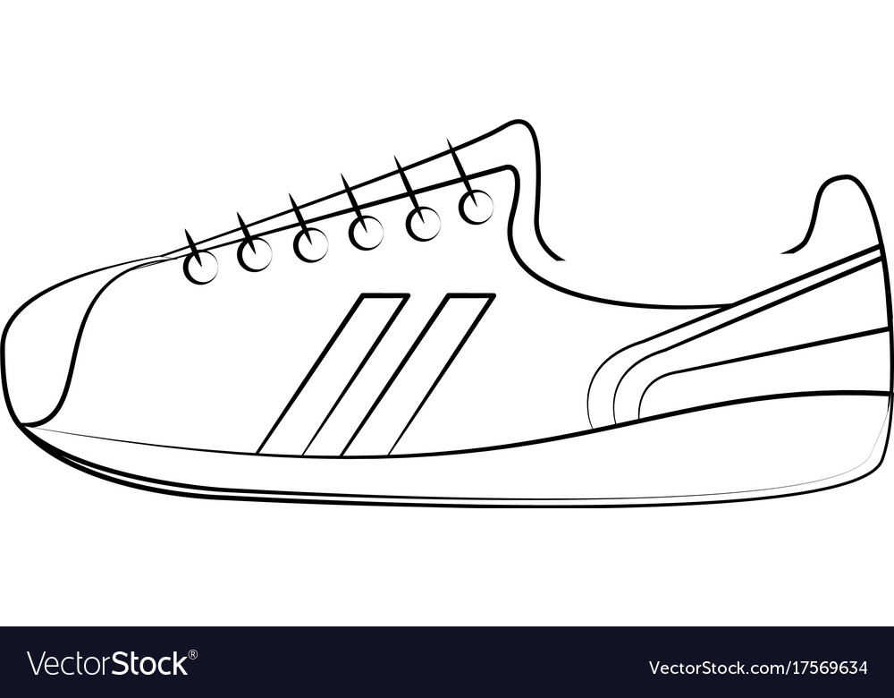 Sneaker Shoes Icon Image Royalty Free Vector Image