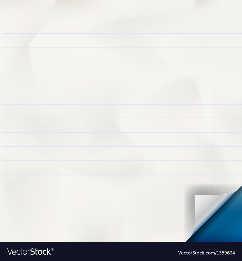 White lined paper texture vector image
