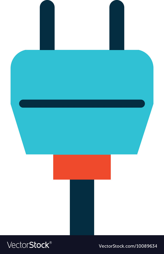 Wire cable energy isolated icon Royalty Free Vector Image