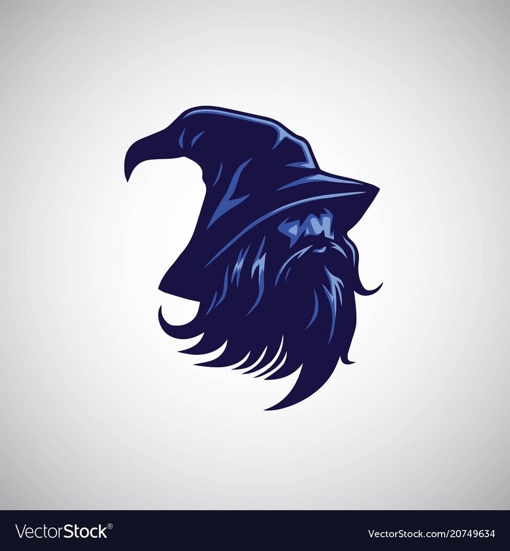 Wizard sorcerer logo design mascot