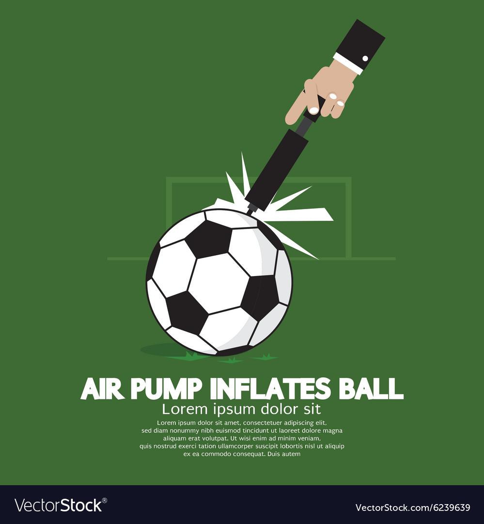 Air Pump Inflates Ball