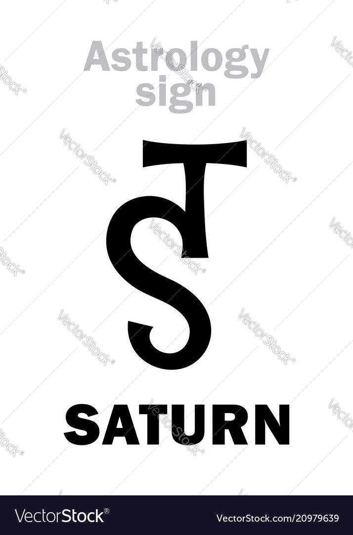 Astrology Planet Saturn Royalty Free Vector Image