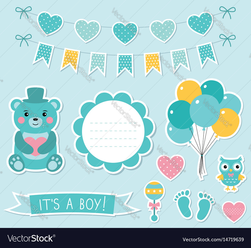 Baby boy arrival set