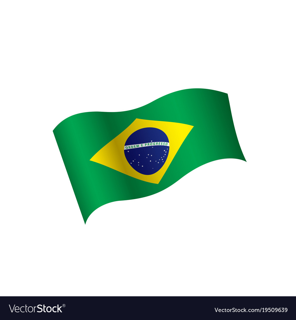 brazil flag royalty free vector image vectorstock rh vectorstock com brazil flag circle vector brazil flag icon vector