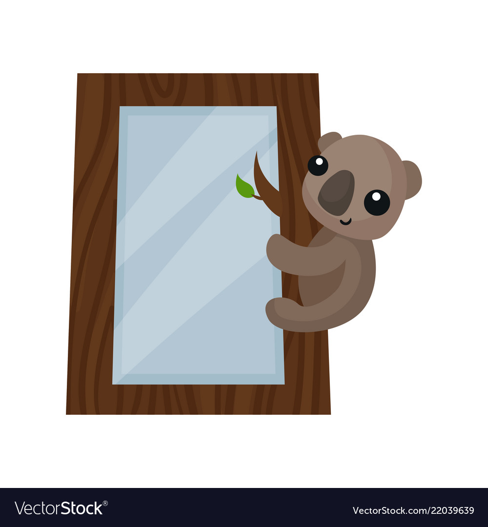 cute photo frame with koala bear album template vector image