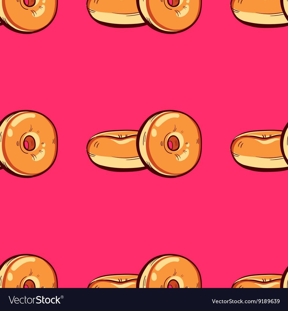 Donuts Pink Seamless Pattern