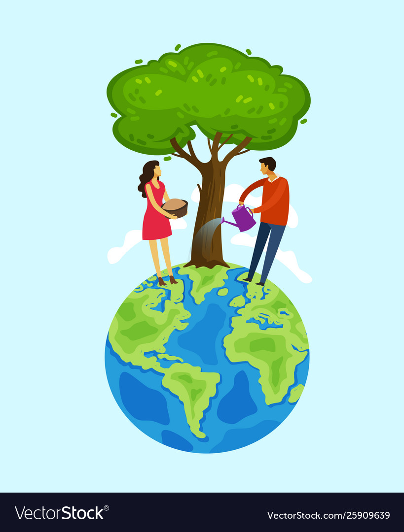 Earth day people care about nature save the