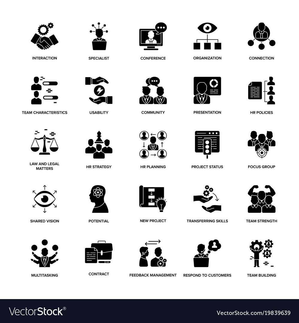 Glyph icon set project management