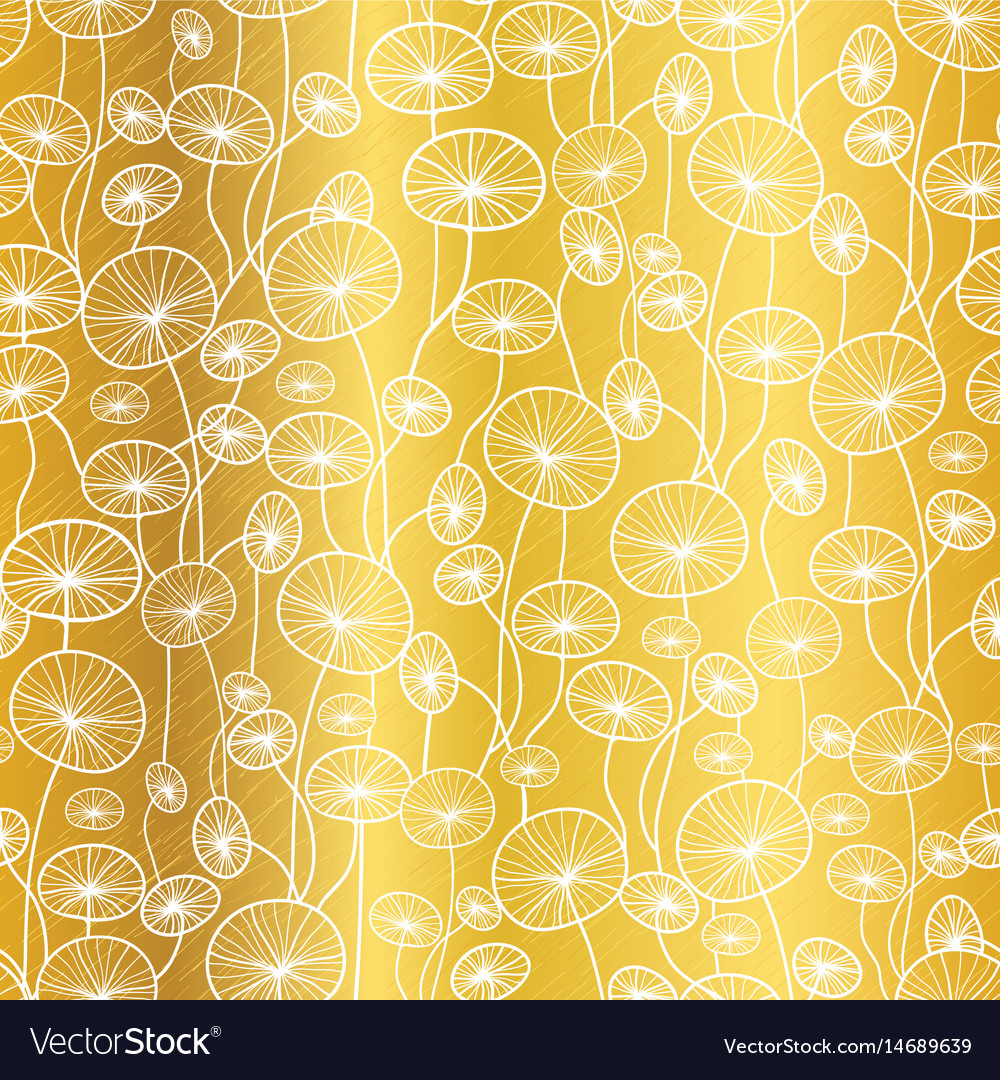 Gold and white underwater seaweed plant vector image