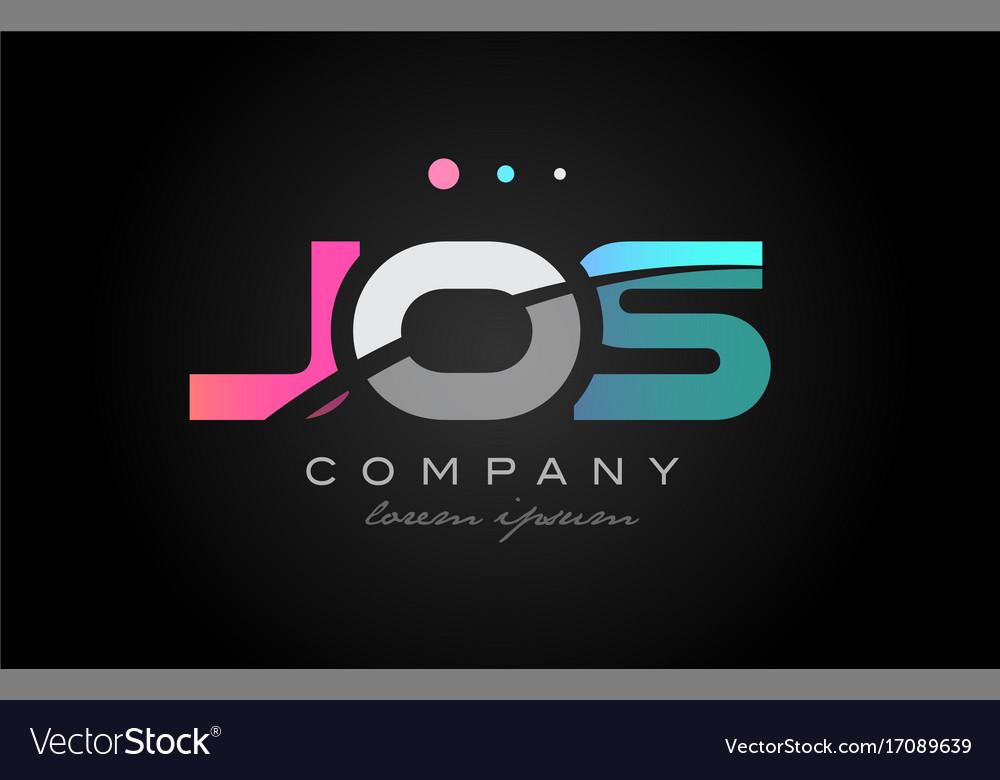 Jos j o s three letter logo icon design
