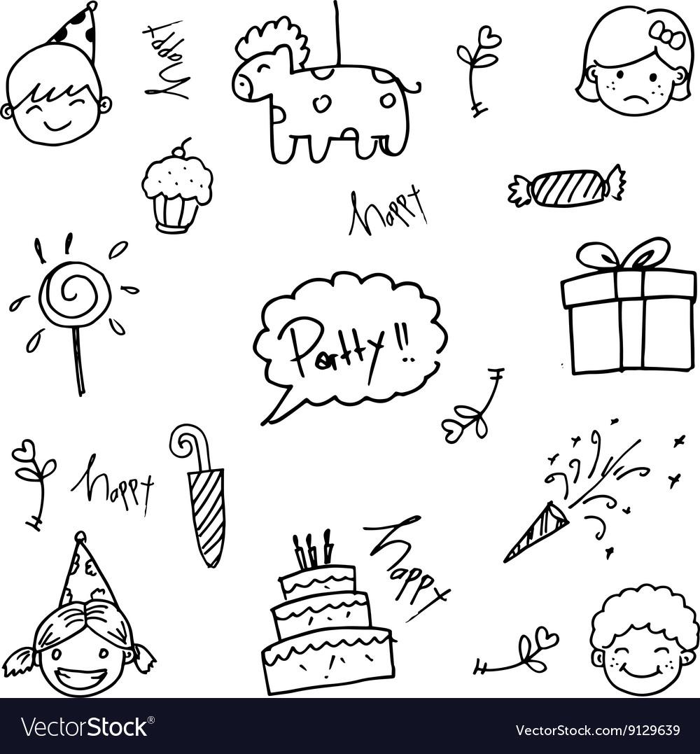 Party doodle art