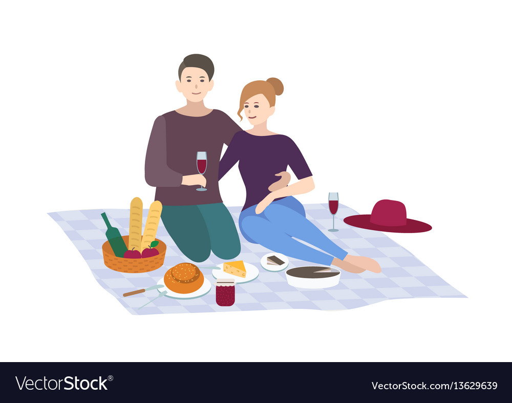 Picnic couple together