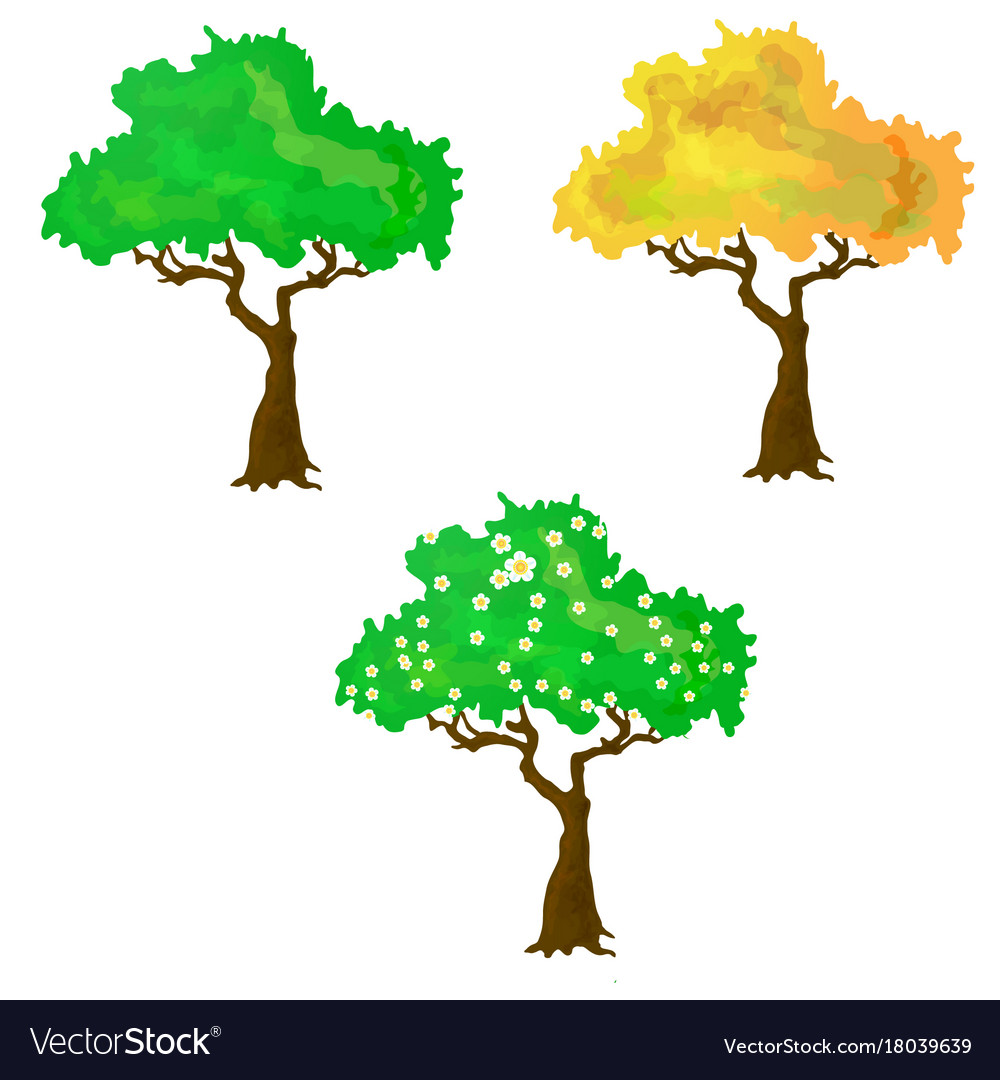 Seasons collection of trees