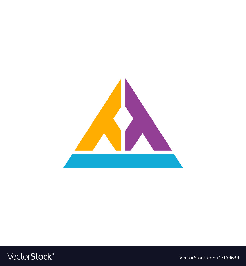 Triangle line construction geometry logo