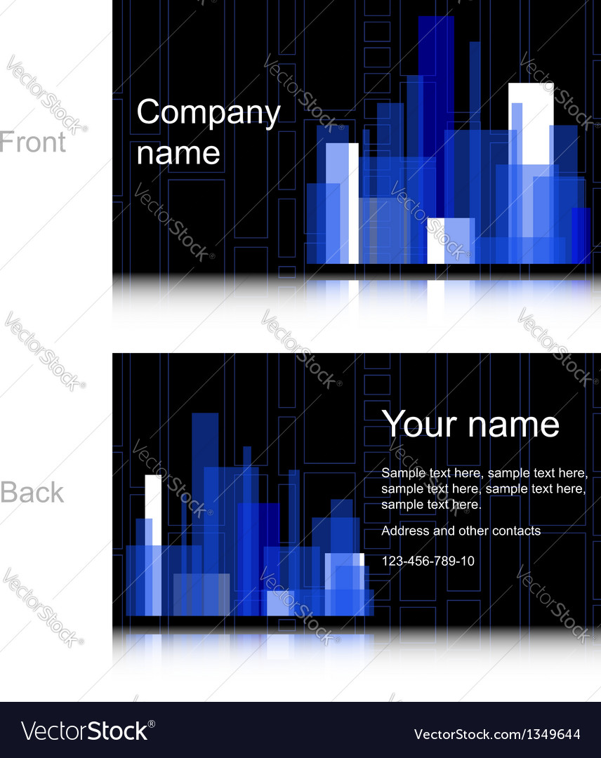 Black and blue business card royalty free vector image black and blue business card vector image reheart Image collections