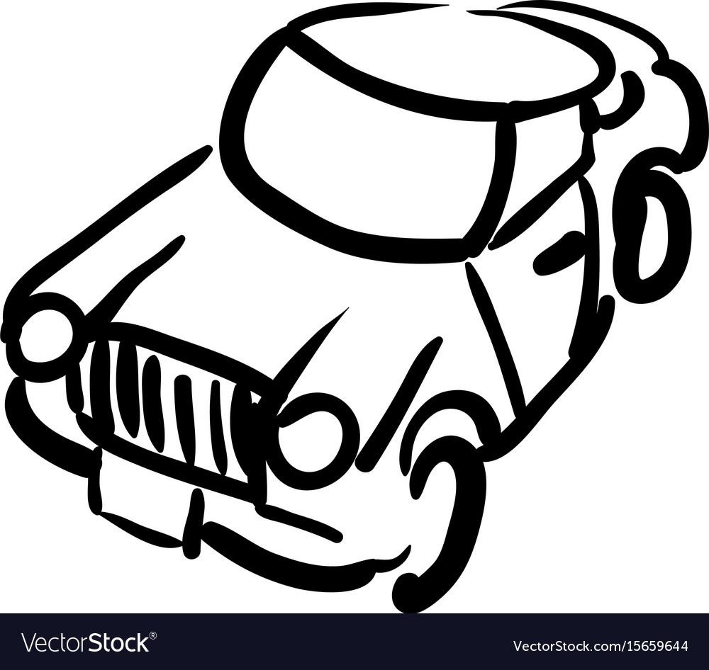 Cartoon image of car icon automobile symbol