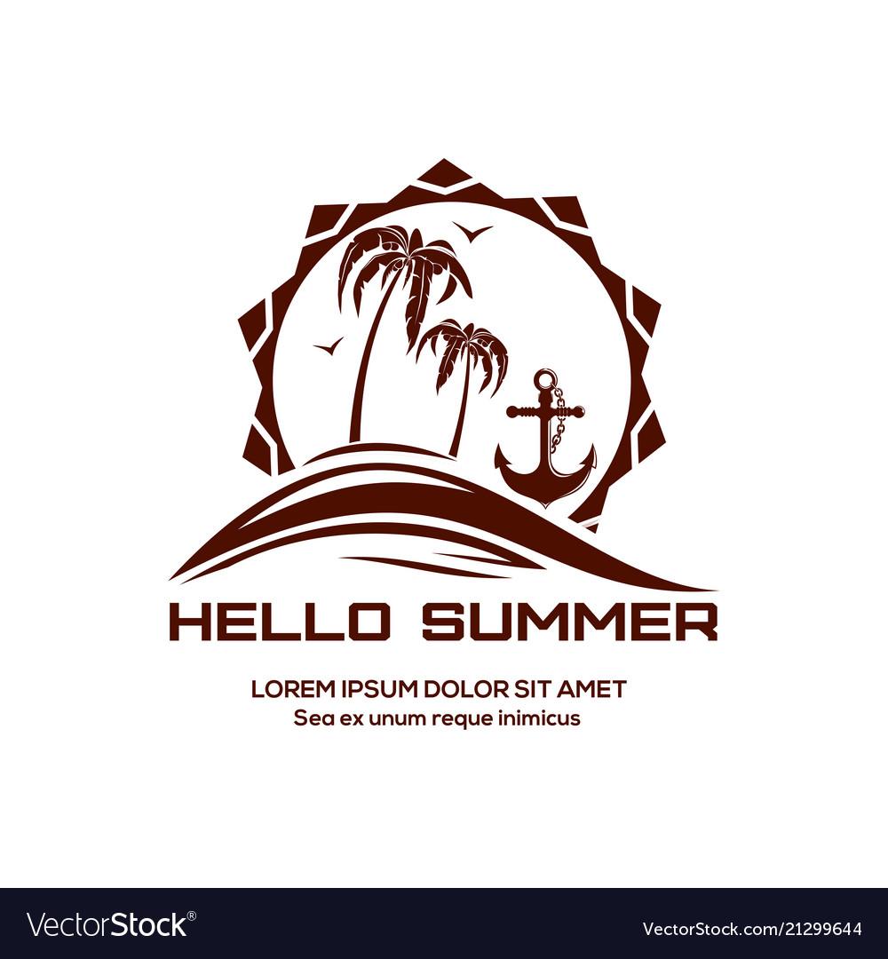 Hello summer logo design
