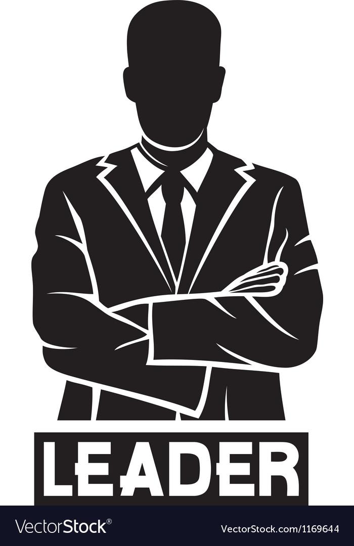 Leader-successful businessman vector image