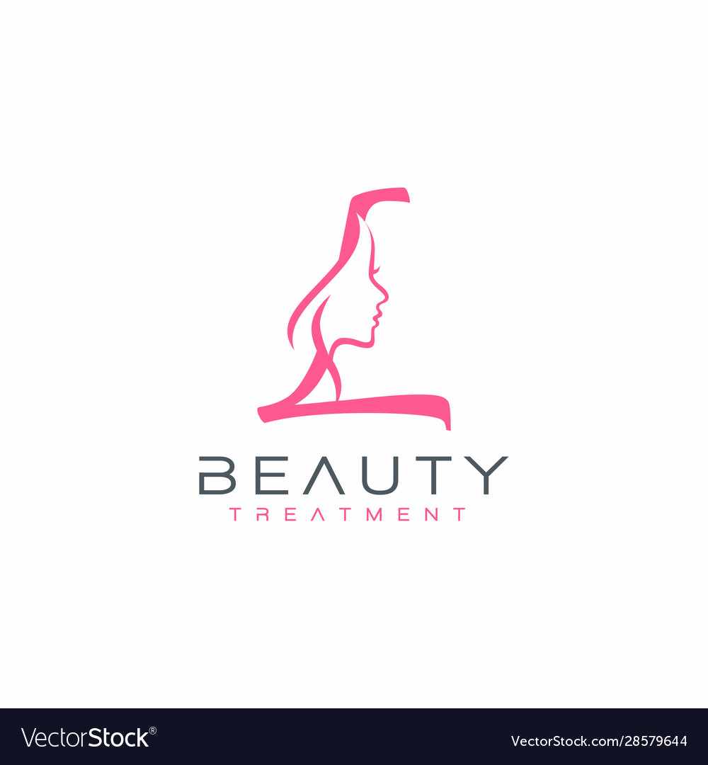 Letter L Beauty Face Logo Design Icon Royalty Free Vector