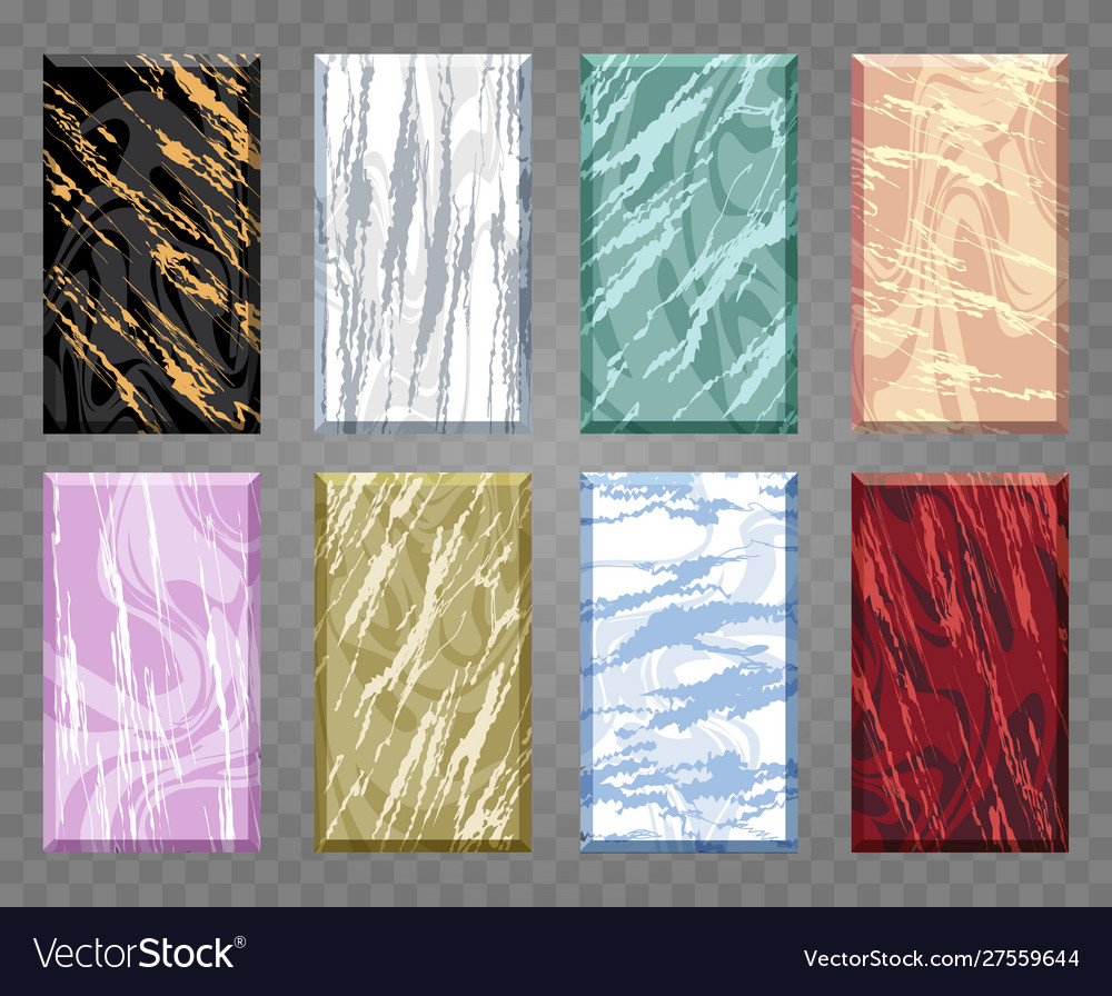Marble artistic covers design set