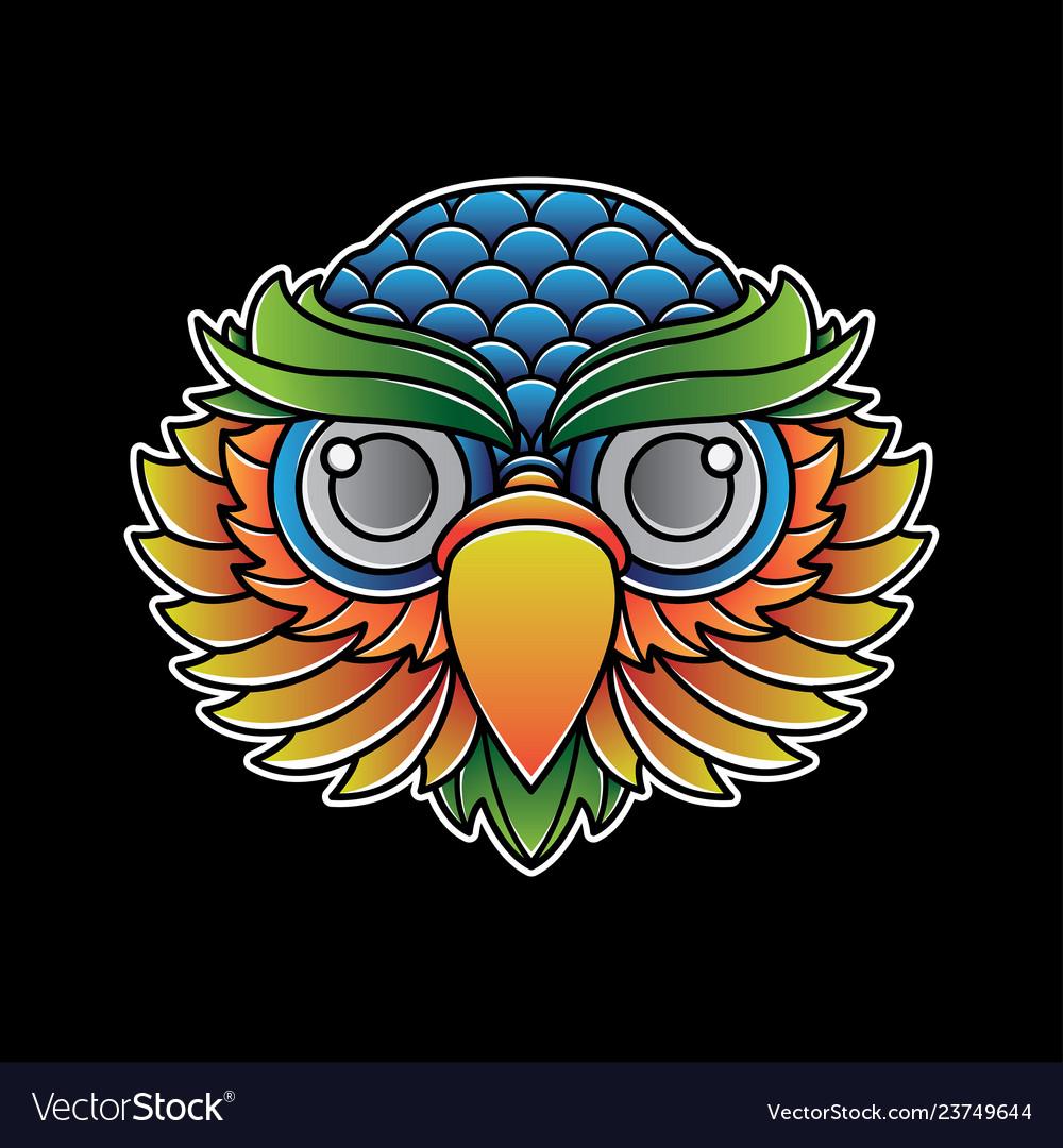 Owl head tattoo flash