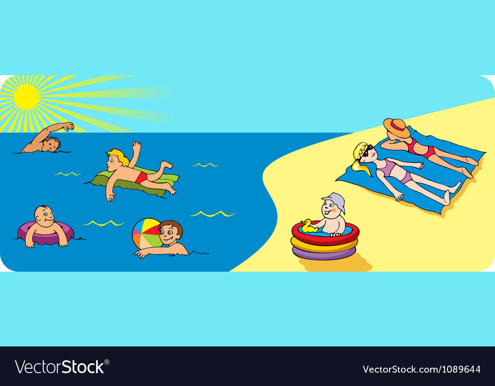 Rest on a seashore vector image