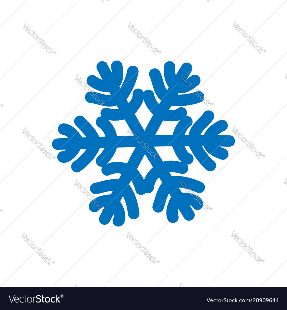 Snowflake sign blue snowflake icon isolated on