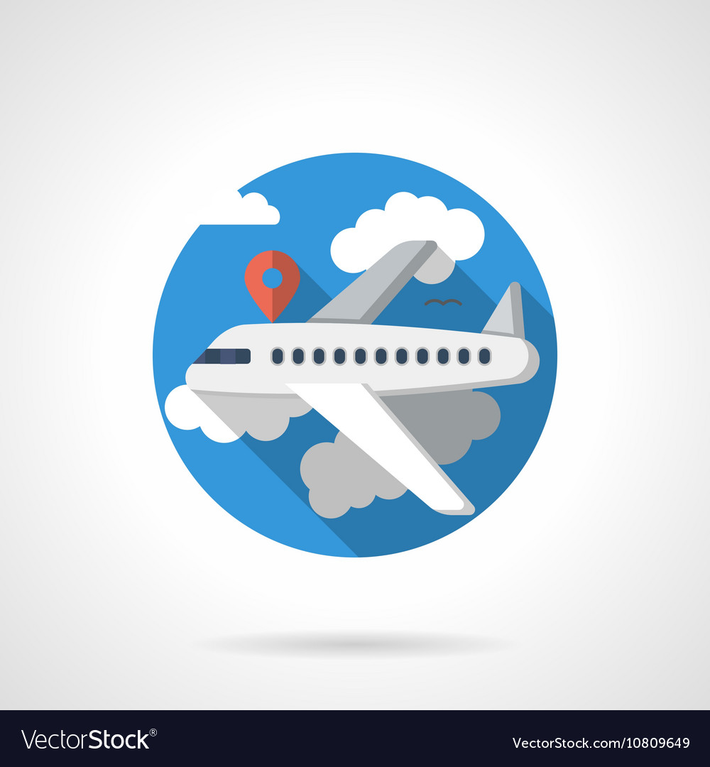Airline travel color detailed icon