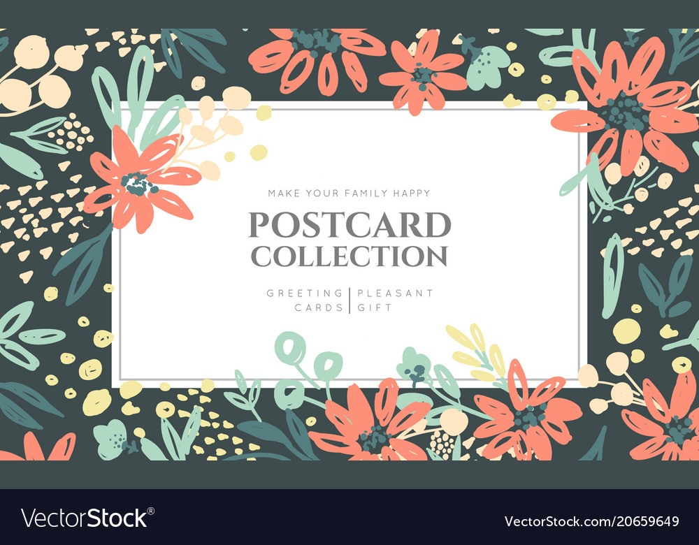 Background of flowers composition vector image