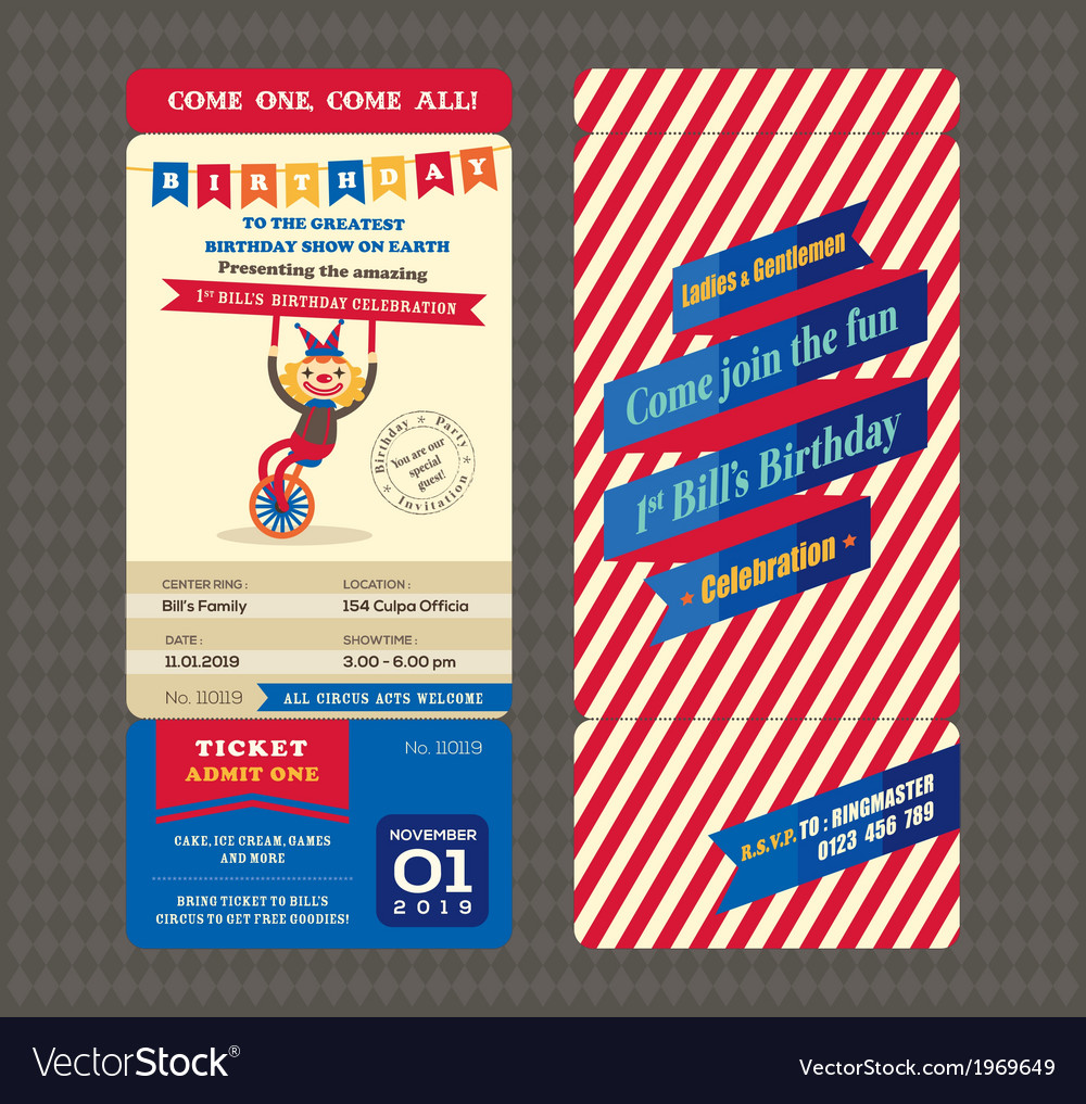 Birthday card Boarding pass style