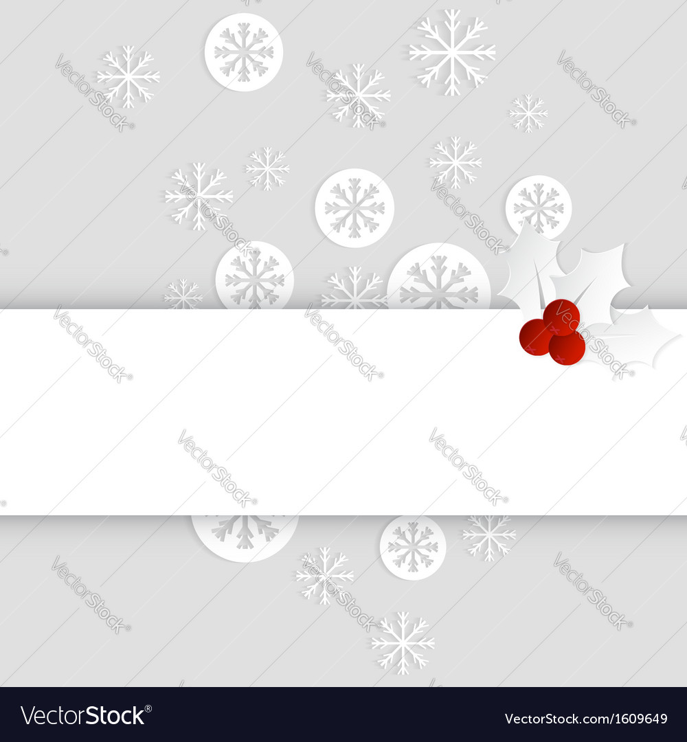 Christmas card paper template horizontal