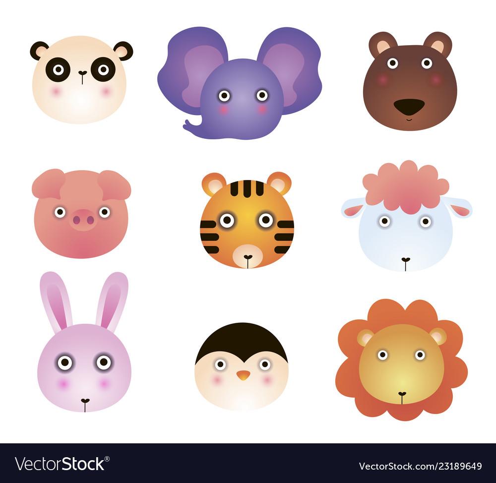 Cute cartoon animals panda elephant bear toy